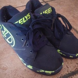 Heely's Dark Blue and Neon Green Skate Shoes